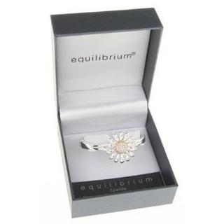 Equilibrium Silver Plated Daisy Bangle And Presentation Gift Box Thumbnail 1
