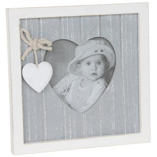 "Provence Grey Heart Picture Photo Frame 3"" X 3"" Shabby Chic Thumbnail 1"