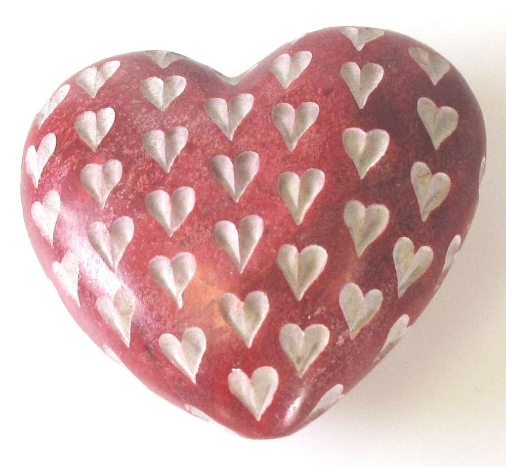 Stone The Crows Medium Sized Red Heart Hand Made Decoration Stone