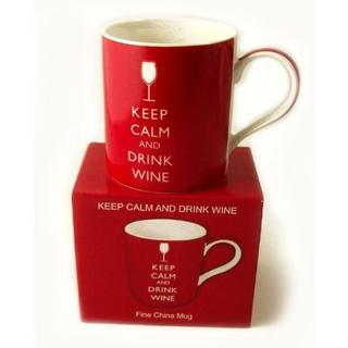 Keep Calm And Drink Wine Fine China Mug In Gift Box - Ideal Gift Present Thumbnail 1
