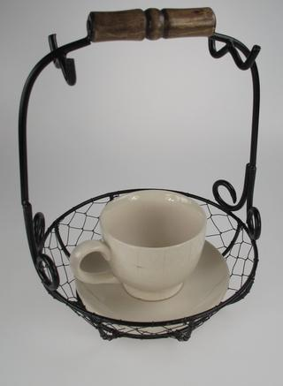 Stone The Crows Cup And Saucer Wire Set Vintage Design Set Of Four Thumbnail 2