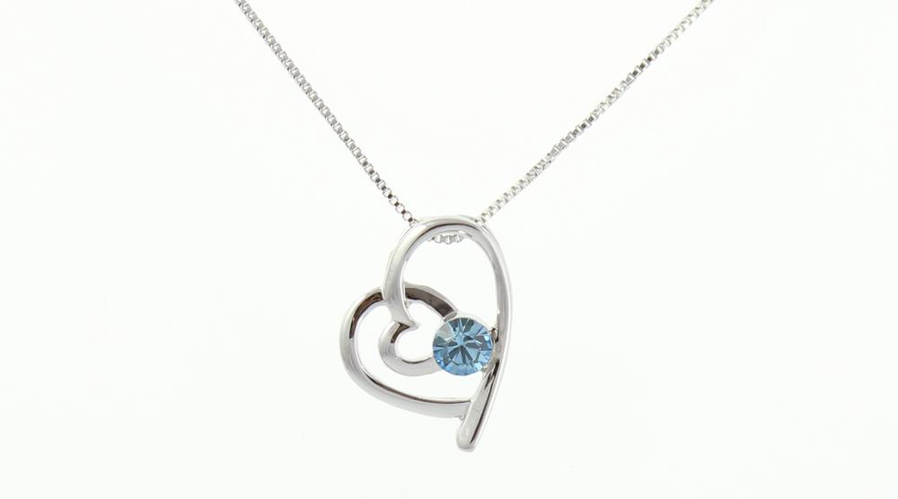 Pure By Coppercraft Swarovski Birthstone Pendant Necklace - Perfect Gift