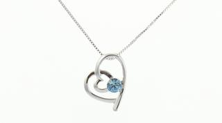 Pure By Coppercraft Swarovski Birthstone Pendant Necklace - Perfect Gift Thumbnail 1