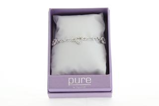 Pure By Coppercraft Swarovski Heart Diamante Bracelet  - Perfect Gift Thumbnail 2