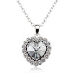 Pure By Coppercraft Swarovski Diamante Centre Heart Pendant Necklace