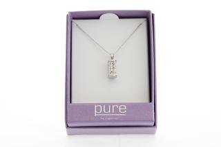 Pure By Coppercraft Swarovski Diamante Cylinder Pendant Necklace  - Perfect Gift Thumbnail 2
