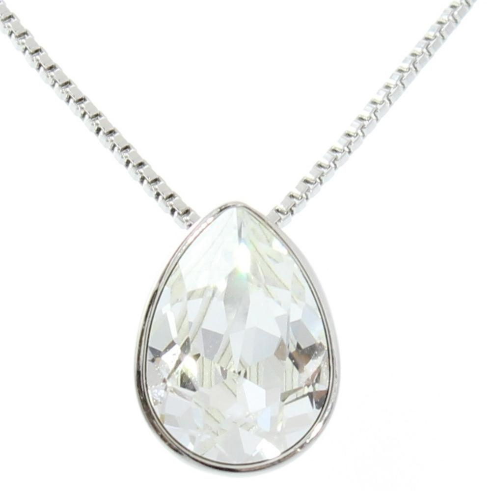 Pure By Coppercraft Swarovski Diamante Oval Pendant Necklace  - Perfect Gift