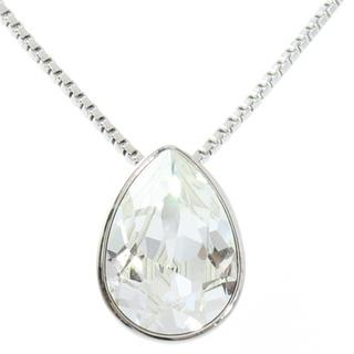 Pure By Coppercraft Swarovski Diamante Oval Pendant Necklace  - Perfect Gift Thumbnail 1