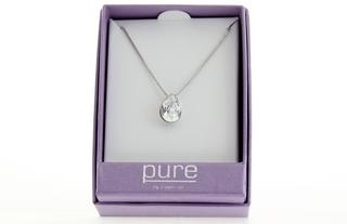 Pure By Coppercraft Swarovski Diamante Oval Pendant Necklace  - Perfect Gift Thumbnail 2