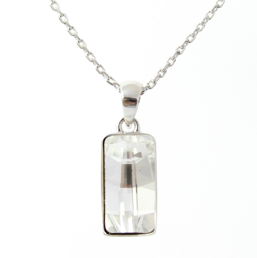 Pure By Coppercraft Swarovski Clear Diamante Pendant Necklace - Perfect Gift