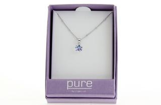 Pure By Coppercraft Swarovski Clear Diamante Pendant Necklace - Perfect Gift Thumbnail 2