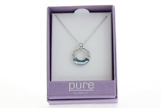 Pure By Coppercraft Swarovski Diamante Pendant Necklace  - Perfect Gift Thumbnail 2