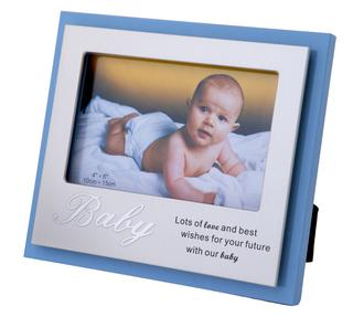 Lots Of Love And Best Wishes For Your Future With Our Baby Blue Boy Frame 6 X 4 Thumbnail 1
