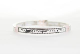 Pure By Coppercraft Sentiment Bracelet - Rose Quartz - Nothing Compares To You Thumbnail 1