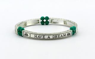 Pure By Coppercraft Sentiment Bracelet - Turquoise - I Have A Dream Thumbnail 1