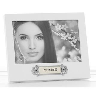 "Loved Ones Memories Sentiment White Picture Photo Frame - 6"" X 4"" - Perfect Gift Thumbnail 1"