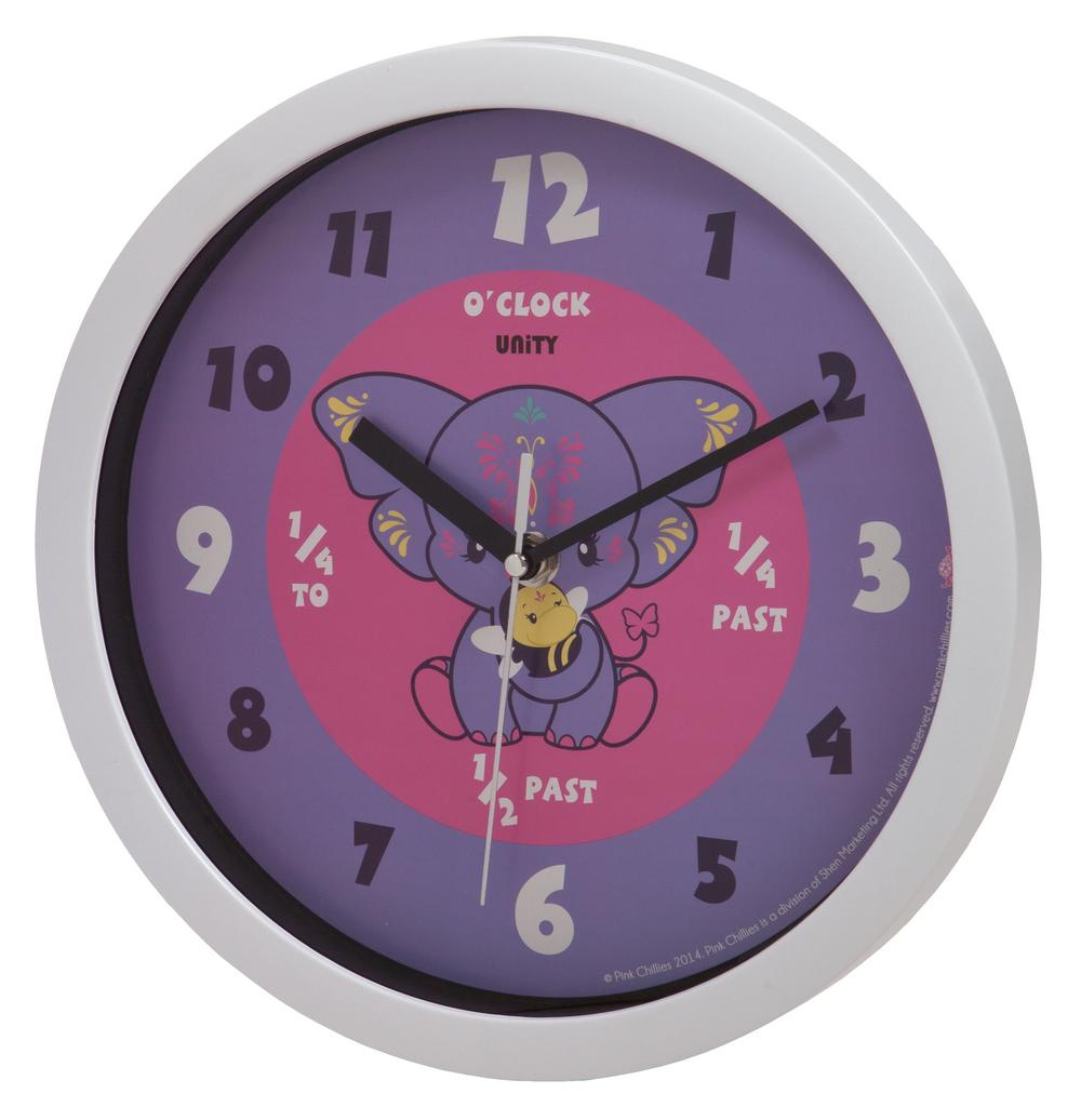 Yara Purple Elephant Wall Clock