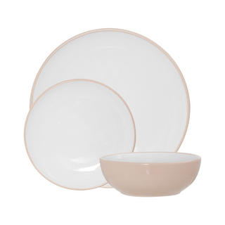 Sienna 12Pc Dinner Set, Natural/White Stoneware W0 X D0 X H0Cm Thumbnail 1
