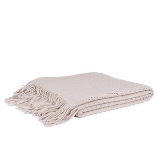 Malini Lace Throw in Natural Cream Thumbnail 1