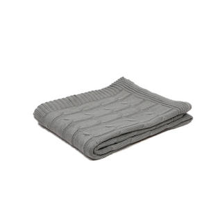 Malini Knitted Alpine Throw in Silver Thumbnail 1