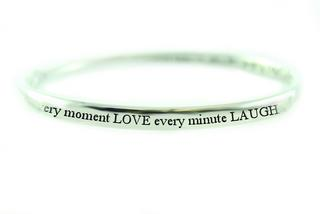 Pure Sentiment Bracelet - Live, Love, Laugh Thumbnail 1