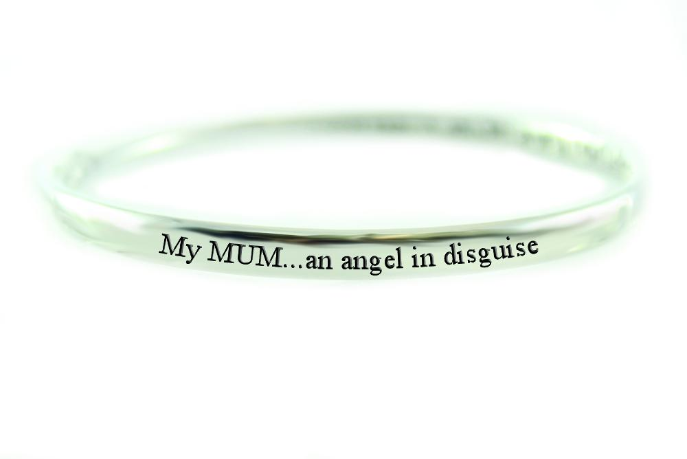 Pure Sentiment Bracelet - My Mum an Angel in Disguise