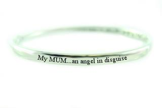 Pure Sentiment Bracelet - My Mum an Angel in Disguise Thumbnail 1