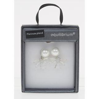 Crystal Cluster Pearl Earrings Thumbnail 1