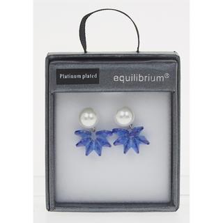 Blue Pearl Cluster Earrings Thumbnail 1