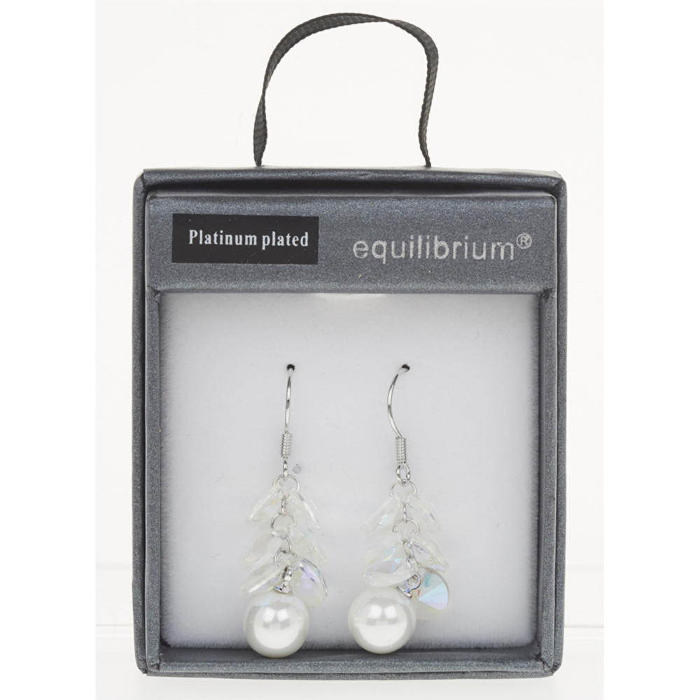 Hanging Clear Pearl Earrings