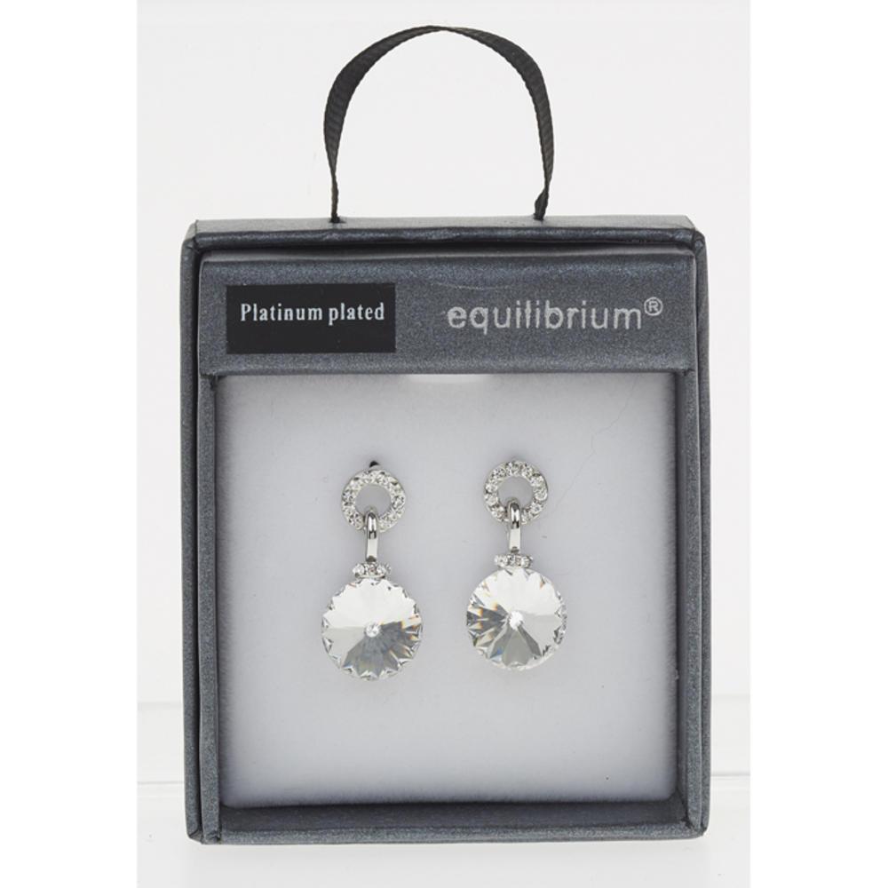 Crystal Circle Clear Earrings