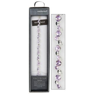 Purple Crystal Bracelet Thumbnail 1