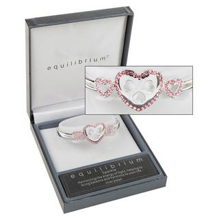 Diamante Pink Hearts Bracelet Thumbnail 1