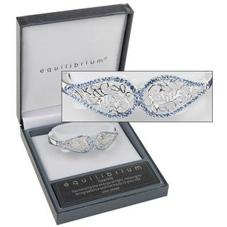 Blue Filigree Diamante Bangle Thumbnail 1
