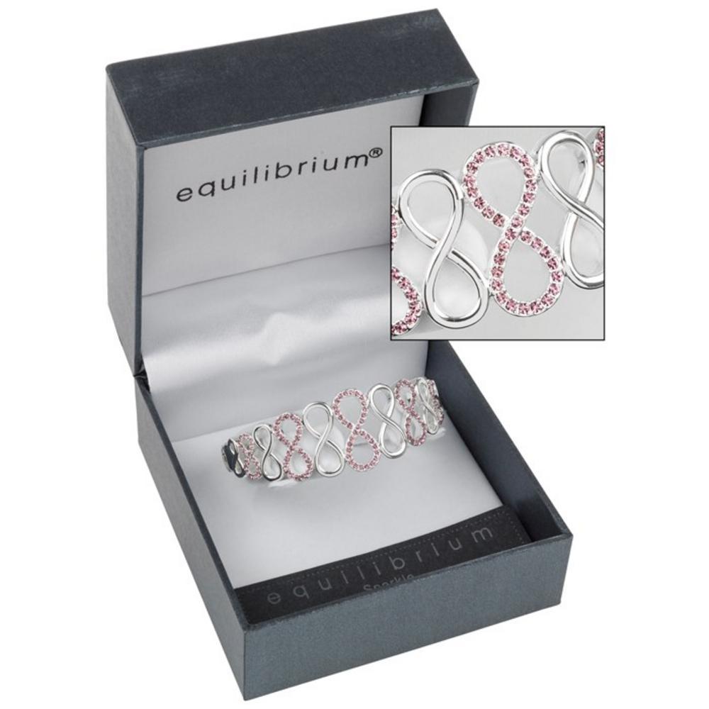 Purple Diamante Love Knot Bracelet