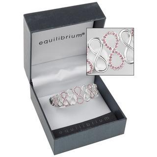 Purple Diamante Love Knot Bracelet Thumbnail 1
