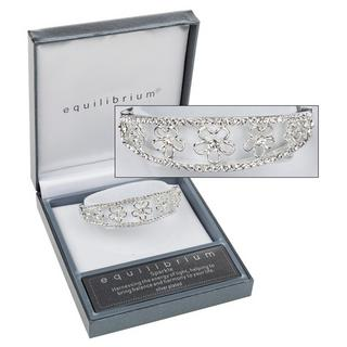 Diamante Flower Bracelet Bangle Thumbnail 1