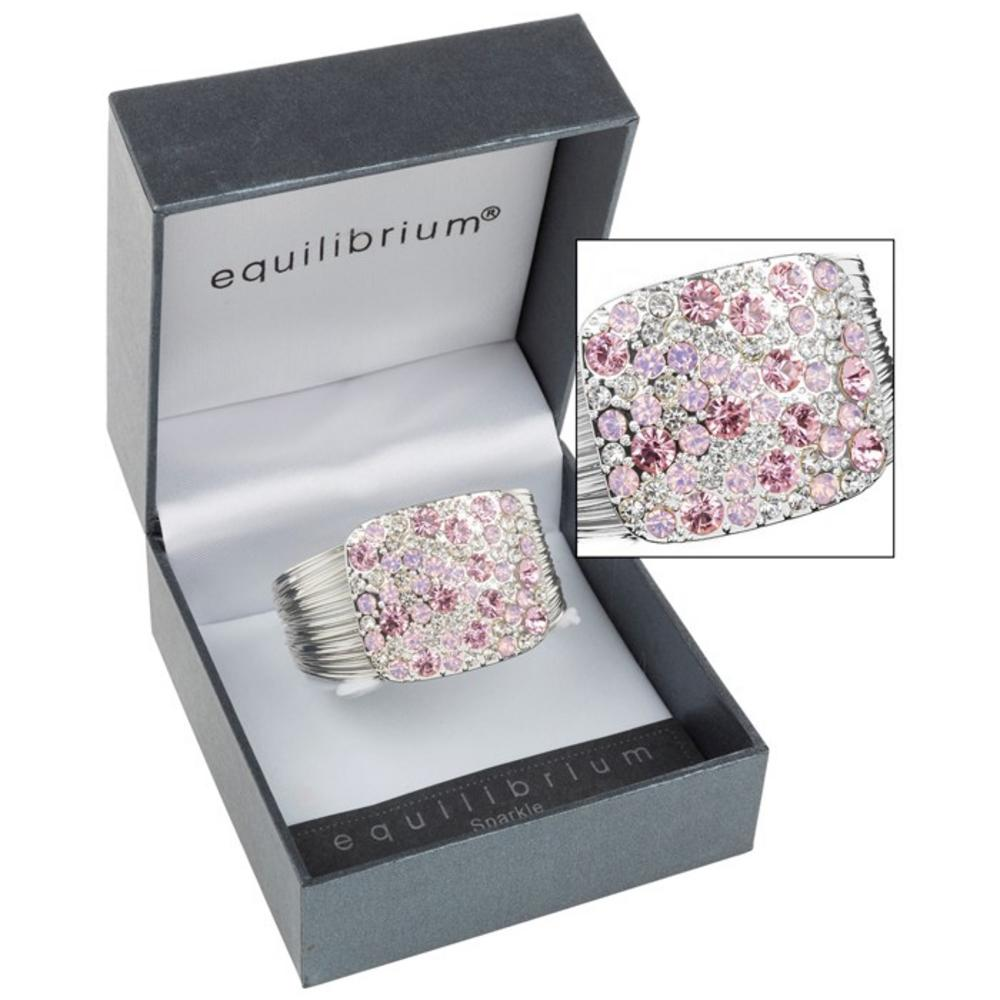 Pink Sparkle Square Bracelet
