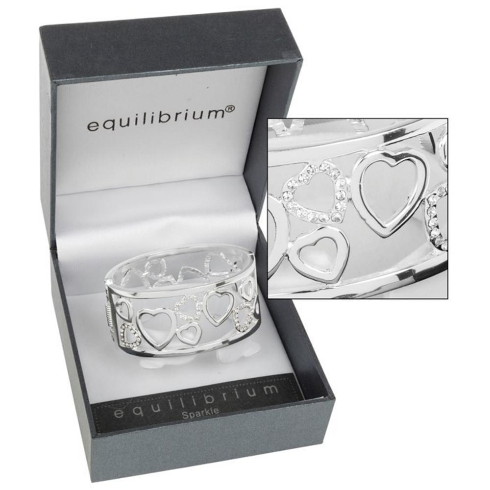 Clear Random Hearts Diamante Bracelet