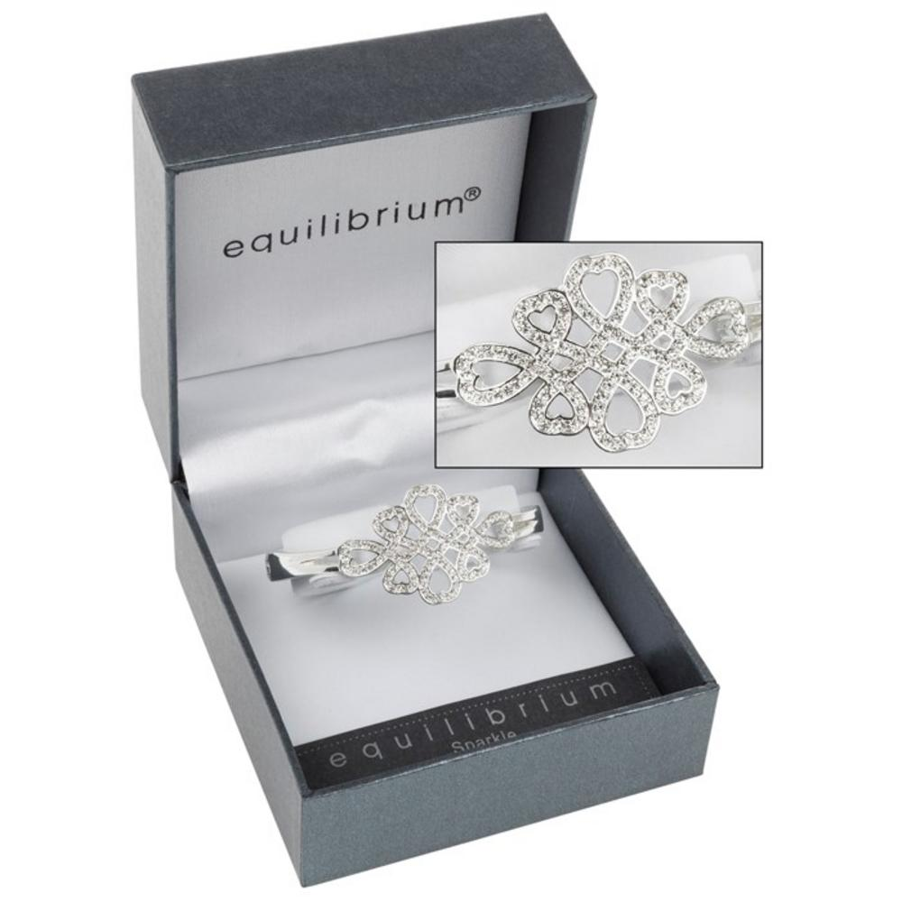 Silver Plated Entwined Hearts Bracelet