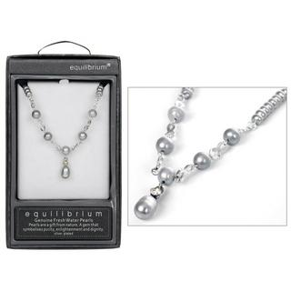 Grey Fresh Water Pearl Necklace Thumbnail 1