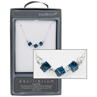 Crystal Clear Blue Necklace Thumbnail 1