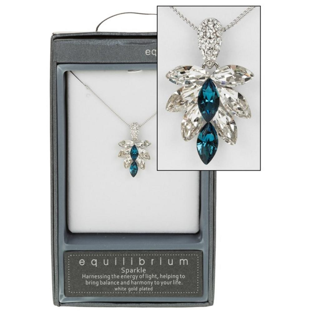 Blue Crystal Cluster Necklace