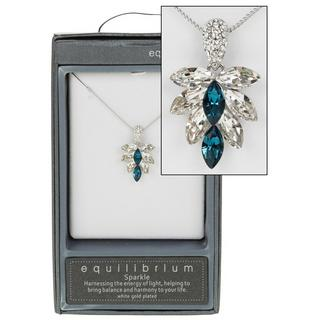 Blue Crystal Cluster Necklace Thumbnail 1