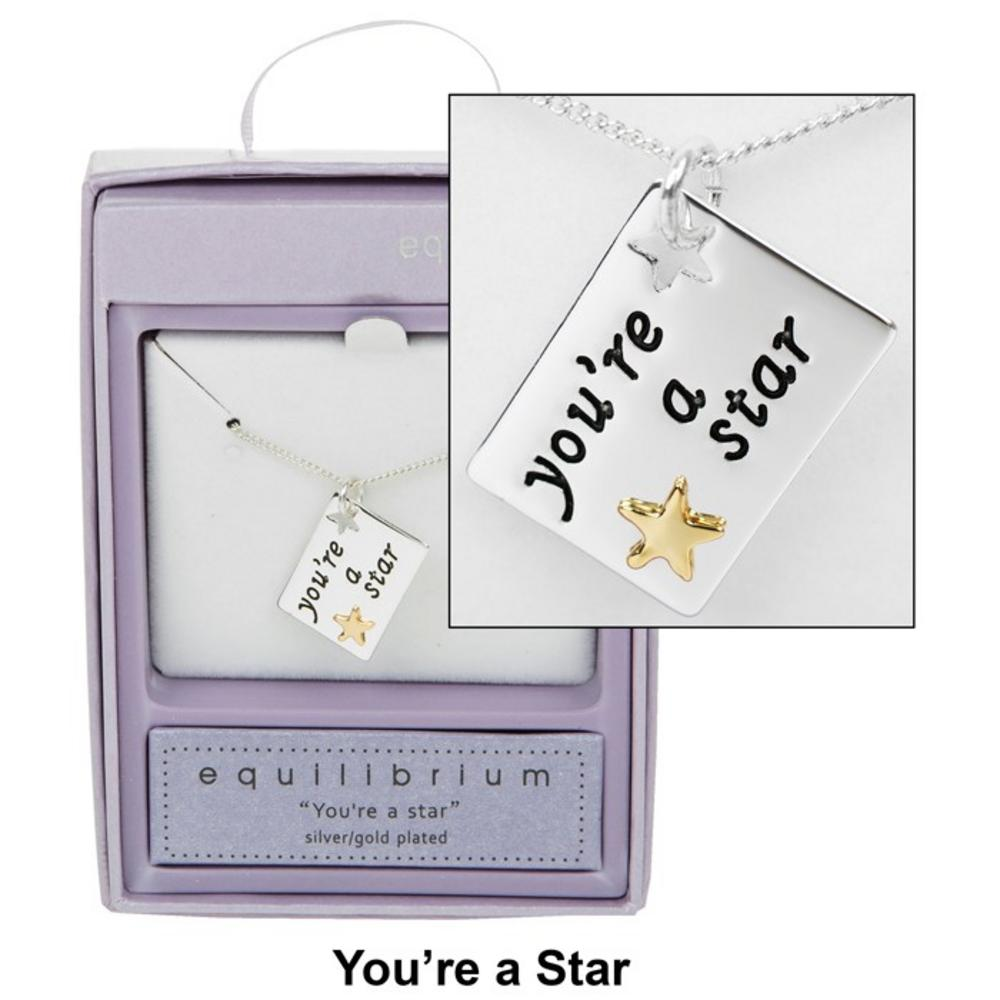 You're a Star Sentiment Tag Necklace