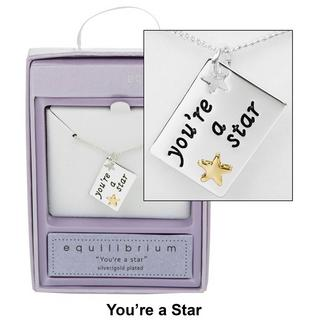 You're a Star Sentiment Tag Necklace Thumbnail 1