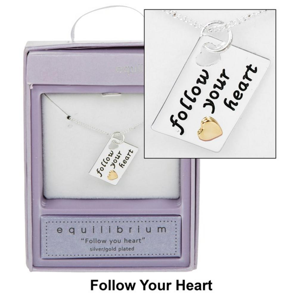 Follow your Heart Tag Necklace
