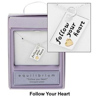 Follow your Heart Tag Necklace Thumbnail 1