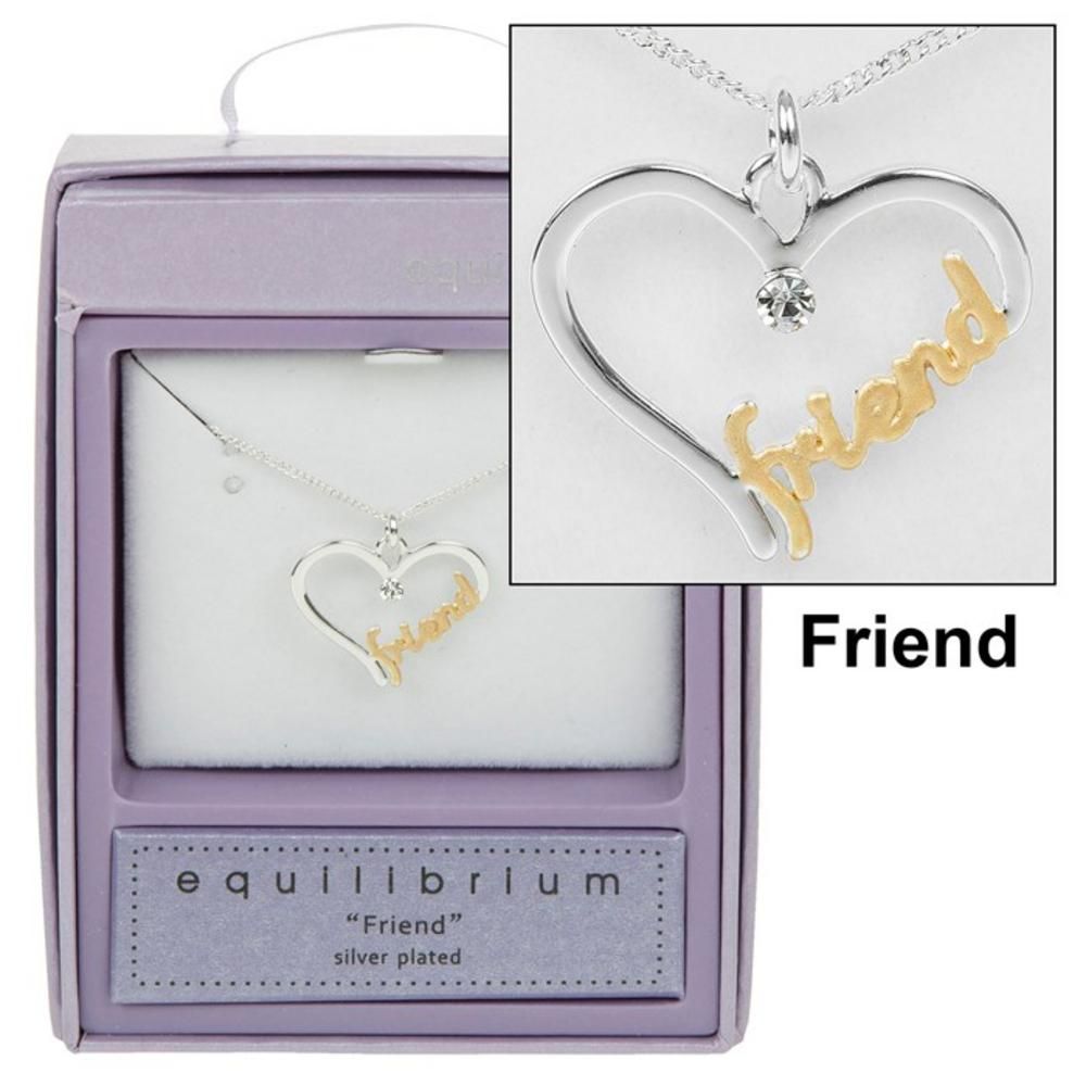 Friend Script Necklace