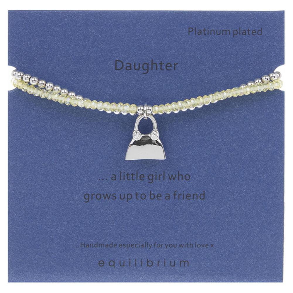 Daughter Platinum Plated Message Bracelet
